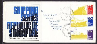 Singapore 1970 Shipping  First Day Cover Addressed to Malaysia
