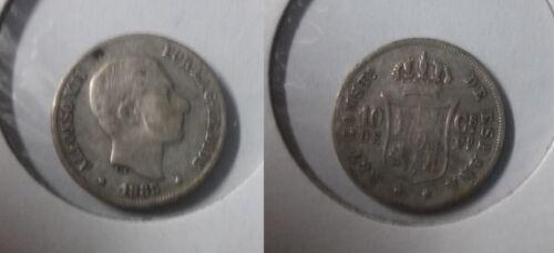 1885 Philippines Silver 10- centavos