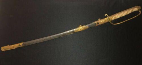 Japanese WWII Samurai Sword Model 1883 Naval/Family Mon/Old/Antique IJN Navy WW2