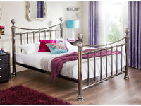 Nelson Black Nickel Metal Bed Frame