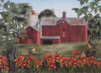 Billy Jacobs Summer Days Farm Bird Print 16 x 12