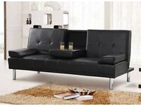 *FREE NEXT DAY DELIVERY**7-DAY MONEY BACK GUARANTEE!** Verona Italian Style Leather Sofabed *