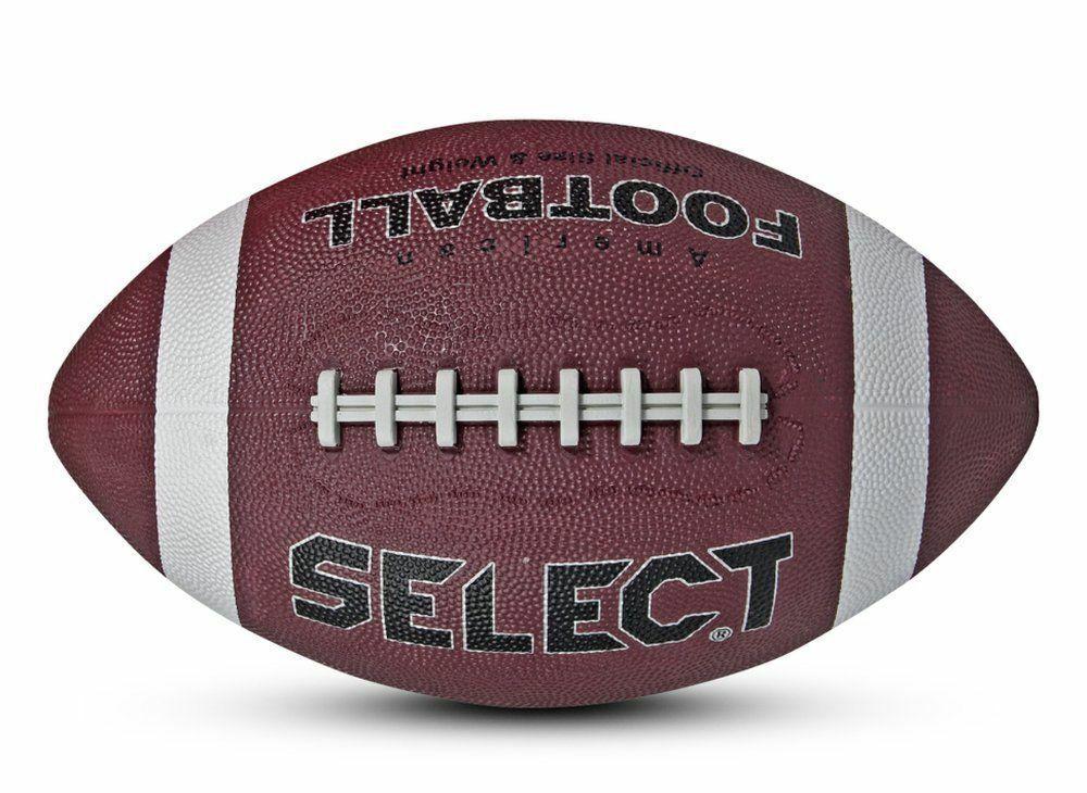 Select American Football Fußball Spielball und Trainingsball Rubber braun