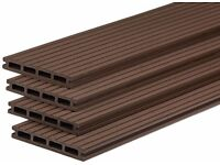 Pack of 10 Brown Composite Boards with fixings!!!