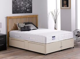 Selling a King size bed, mattress and headboard, In great condition with useful wide drawers