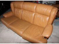 Free Italian leather sofa and chair