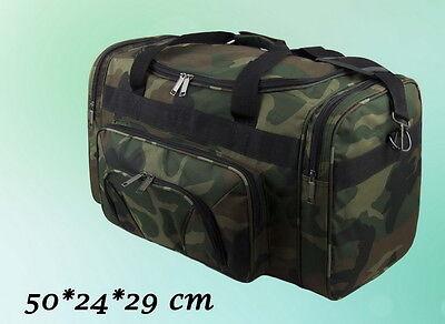 Herren Tasche Reisetasche Sporttasche Camouflage Tarn Grün 50 * 24 * 29 cm NEU