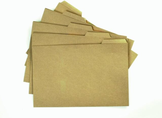 Q-Connect Tabbed Folder 170gsm Foolscap Buff (Pack of 100) KF01578