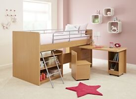 Kids Hampshire Cabin Sleeper / Bed With Matres