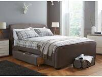 Dreams Upholstered Rayner storage Super King bed frame with sprung slat 230cm x 200cm