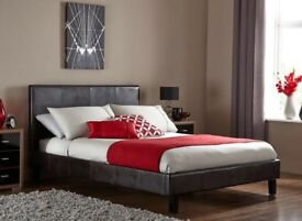 🔥💗🔥SAME DAY FAST DELIVERY🔥🔥New Double/King Leather Bed w 10 INCH AMBASSADOR ORTHOPEDIC Mattress