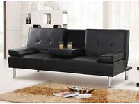 *FREE NEXT DAY DELIVERY* Verona Italian Style Leather Sofabed **7-DAY MONEY BACK GUARANTEE!**