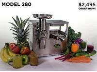 NORWALK 280 - Hydraulic Cold Press Juicer (Vegan Detox Juice) with Upgraded Package, newly serviced