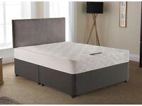 Double Divan Beds with Matteress & headboard