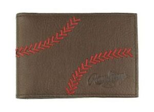 Rawlings Baseball Bi-Fold Wallet Front Pocket Home Run Money Clip RLG803-200