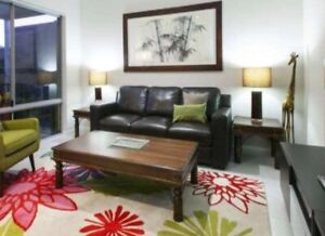 African hardwood coffee table, side tables and hall table