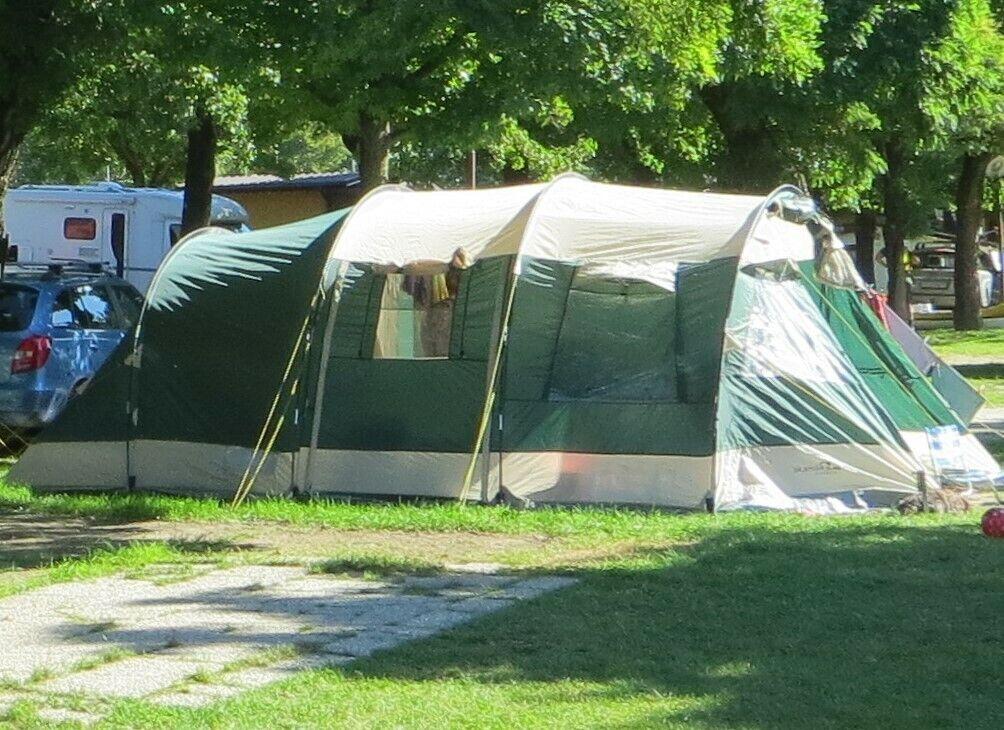 Skandika Jasper II 6 Personen Gruppen-Zelt Familienzelt Tunnel 2 Kabinen grün