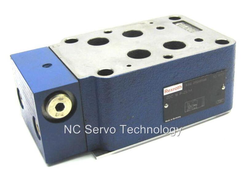Rexroth ZDC16P-23/M Pressure Reducing Sandwich Plate R900489668 Rebuilt/Warranty