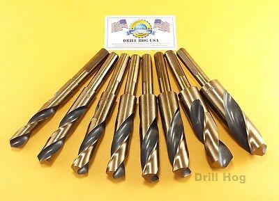 "Drill Hog USA Silver & Deming Drill Bits 9/16"" to 1"" Jumbo S"
