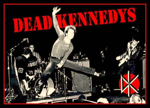 "4.25"" Dead Kennedys Live vinyl sticker. Jello Biafra decal for car, guitar."