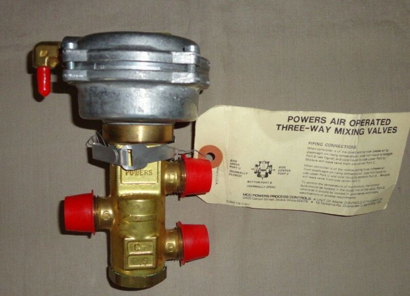 POWERS CONTROLS 656-0009 MIXING VALVE THREE-WAY 656 SIEMENS AIR OPERATED NEW
