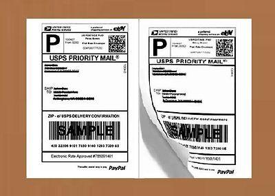 Straight Cut 1000 Half Sheet Shippping Packing Labels 8.5x5.5 Self Adhesive