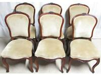 Set 6 Rosewood Dining Chairs Superb Quality circa 1850