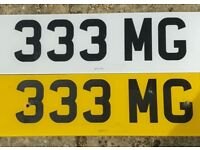 333 MG Cherished Private Number Plate