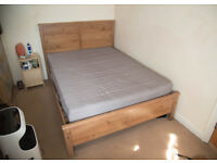Ikea double bed and mattress for sale (ideal for student house)