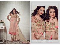 semi stitched indian pakistani dress unstitched salwar kameez duppata suit
