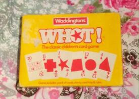 Waddingtons Whot! Card Game 1984 Vintage Edition. Classic Children's Card Game.