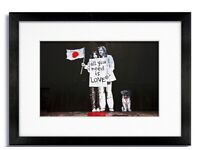 Banksy All You Need Is Love John & Yoko Street Art Mounted and Framed Print Wall Home Office Decor