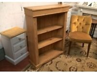 Quality Solid Waxed Antique Pine Bookcase *DELIVERY POSS* Bookshelves Display Dresser (not oak)