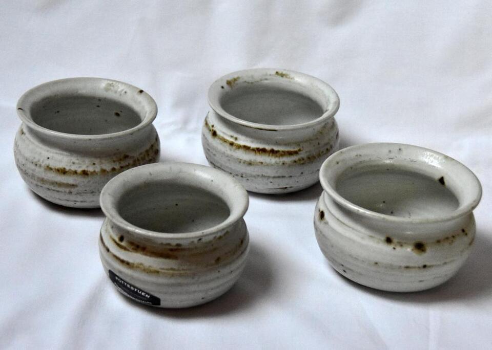 Dänische Keramik Pottestuen - vier Schälchen in Schleswig-Holstein - Mildstedt