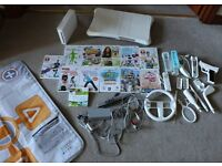 Nintendo Wii bundle. Console, Wii Fit board, Games & Accessories.
