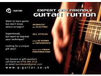 Guitar lessons in North London with friendly and extremely patient tutor