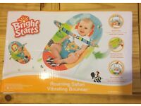 Used just once bright starts roaming safari baby bouncer