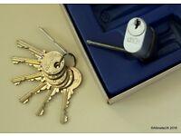 J Parkes Union Oval Medeco Cylinder barrel - High Security certified - [ 2G452 SC 3K A ] with 6 keys