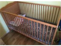 Wooden cot bed excellent condition
