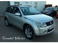 NOW REDUCED 2007 SUZUKI GRAND VITARA 2.0 16V FIVE DOOR 4X4 silver 122k, LONG mot towbar LOVELY CAR