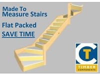 Stairs made to measure flat packed or fully assembled