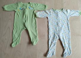 2 Piece Gerber's Matching Farm Animals Print Baby Clothes Bundle Set 3-6 Months