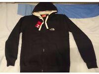 The North Face Jacket Hoodie Sweater long sleeve black Mens size Medium Nike adidas ralph lauren