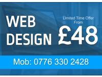 Website Design from £48/Free Hosting/ 5 star reviews/Logo Design