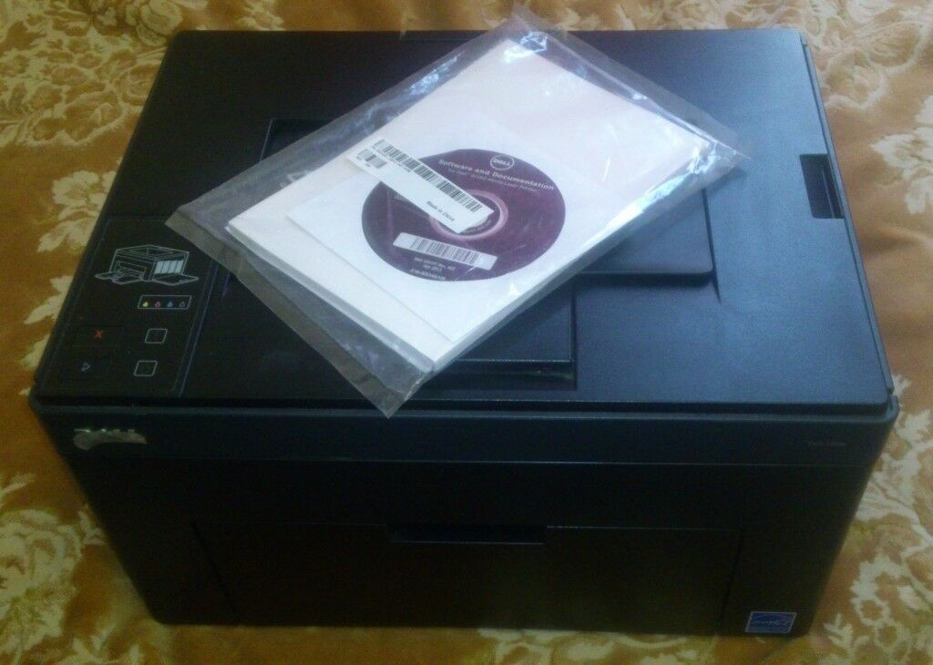 DELL 1250C COLOR LASER PRINTER WITH MANUAL FOR