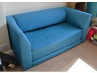 Teal/turquoise Argos fold out sofa bed - Great condition