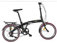 "(Ecosmo 20"" Lightweight Alloy Folding City Bike Bicycle,12kg - 20AF09BL) NEW Akin Bikes"