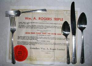Wm. A Rogers triple silverware