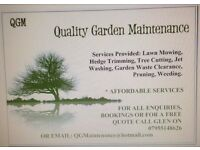 Garden Maintenance, Patios, Fencing, Turfing