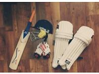 Cricket kit + Slazenger bag |cricket bat|leg pads |cricket bag|cricket gloves